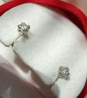 Серьги пусеты с бриллиантами 0. 22 карата