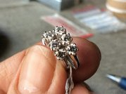 Сережки с бриллиантами 0. 72карата